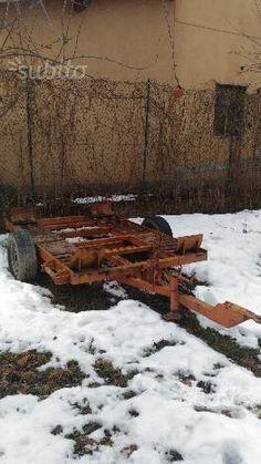 Rimorchio pianale targato portata 5000kg macchine agricole for Rimorchio agricolo piemonte