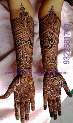 Browse the latest Mehndi Designs Ideas and images for brides online on HappyShappy! We have huge collection of Mehandi Designs for hands and legs, find and save your favorite Mehendi Design images. Dulhan Mehndi Designs, Mehandhi Designs, Wedding Mehndi Designs, Unique Mehndi Designs, Beautiful Henna Designs, Best Mehndi Designs, Mehandi Designs Arabic, Hena Designs, Beautiful Mehndi