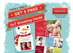 Rite Aid: 5 FREE 5×7 Photo Greeting Cards (12/1 Only)