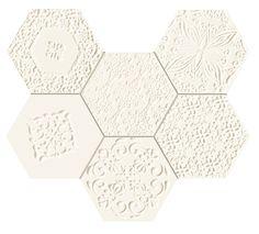 Elementary hex mozaika 29,8x22,1gat.Ipłytka ścienna ,półmatcena za sztukę-plaster