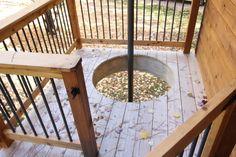 Wolfe Creek Tree House Fire Pole