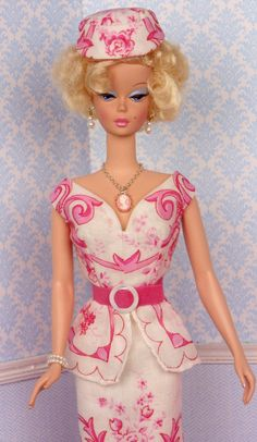 Toile de Pink for Silkstone Barbie by HankieChic on Etsy