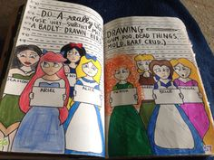 Draw something ugly page in my wreck this journal, not completely finished yet.