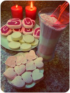 St. Valentine Day Spa at Home with Homemade Bath Salts, Homemade Bath Bombs, Bubble Bars and Bath Melts    http://www.mariasself.com/2012/12/seven-ways-to-reuse-candle-holder-jars.html