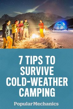 7 Tips to Survive Cold-Weather Camping.Winter camping can be fun, but it can also be just plain cold. Plan ahead to make your cold-weather camping trip comfortable and memorable. Cold Weather Camping, Winter Camping, Camping And Hiking, Camping With Kids, Family Camping, Outdoor Camping, Hiking Gear, Camping Cabins, Camping Style