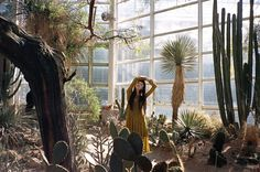 Yuka Mannami at Brooklyn Botanical Garden by Louise Parker via Vogue