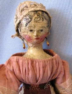 Grodnertal Early Wooden Doll.