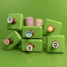 vintage spool drawer handles by red berry apple | notonthehighstreet.com £5.95