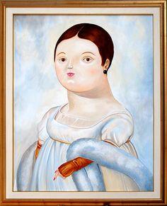 """Rivisitazione de """"La signora Rivière"""" Botero 80 x 100 cm"""