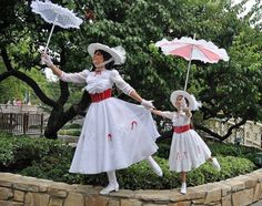 Matching Mary Poppins, mother daughter costumes :)