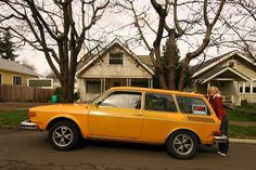 1974 Volkswagen 412 OLD PARKED CARS.