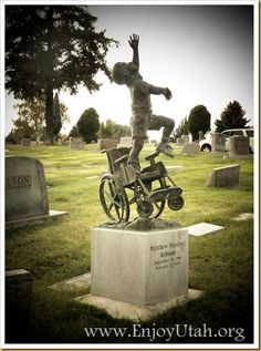 If a tombstone ever told a story...Click image to read the story! He was blind, mostly paralyzed and spoke only a few words, but was still able to touch many lives during his short time on Earth. #tombstone #art #inspiration