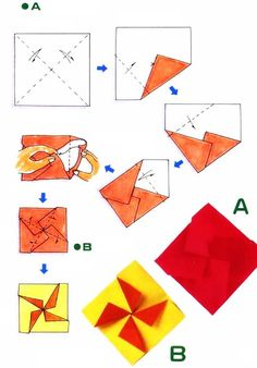 Diagramme d'origami d'enveloppe croix