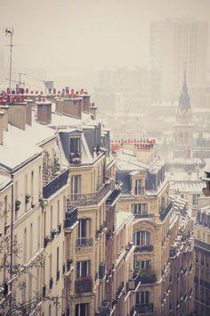 les toits de Paris sous la neige • Sophia Pagan Photography