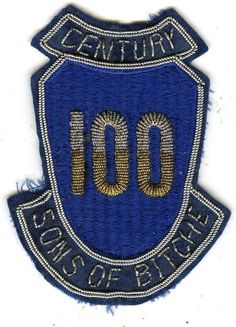 e41522d59429a9 Stunning Bullion 100th Infantry Division With Century And Sons Of Bitche  Tabs Army Divisions, Us