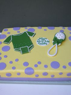 Baby Tee and Rattle Sheet cake | Alliance Bakery | Flickr