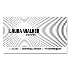 Hypnosis Circles - Black Business Card Templates. I love this design! It is available for customization or ready to buy as is. All you need is to add your business info to this template then place the order. It will ship within 24 hours. Just click the image to make your own!