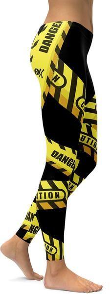 Caution Tape Leggings