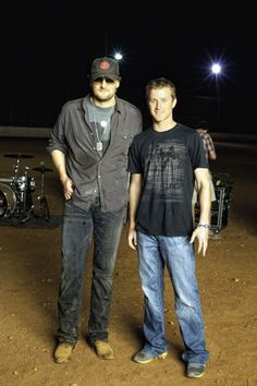 Eric Church & Kasey Kahne... There is just too much good looking in this photo!