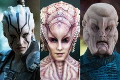 Sofia Boutella plays Jaylah and Ashley Edner plays Natalia in <em>Star Trek Beyond</em>. Left and right, by Kimberly French; middle, by Joel Harlow. © 2016 Paramount Pictures.