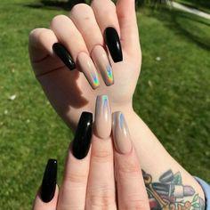 Holographic Nail Polish Design:  http://womenofedm.com/holographic-unicorn-nails-oh-yes/
