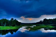 #ADK #Adirondacks #Sunsets - Sunset on the North Branch of the Moose River - Old Forge, New York