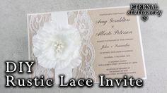 How to make a rustic wedding invitation | DIY invitations - YouTube