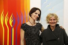 Vernissage, Krisztina Dozsa-Farkas with Dr. Szilvia Rad