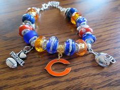Chicago Bears European charms bracelet.