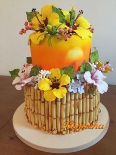 Tropical Bamboo Cake by Ksyusha