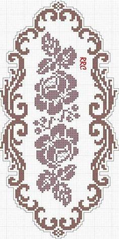Simple Cross Stitch, Cross Stitch Borders, Cross Stitch Rose, Cross Stitch Flowers, Cross Stitch Designs, Cross Stitch Embroidery, Cross Stitch Patterns, Gilet Crochet, Crochet Lace Edging
