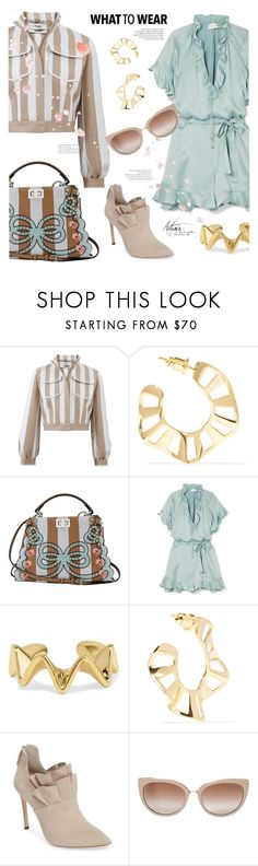 """""""Ruffle Hype"""" by sara-cdth ❤ liked on Polyvore featuring Fendi, Arme De L'Amour, Zimmermann, Pour La Victoire, Jimmy Choo, ruffles and RuffLyfe"""