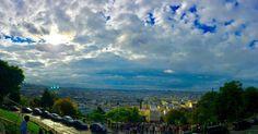 Paris seen from Montmartre with a beautiful light, earlier this morning, during a nice City Tour with @tbonegallagher (à Sacré-Cœur, Paris)