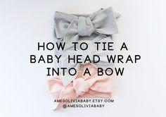 How to tie a baby head wrap. Baby head wrap tutorial.