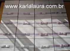 Karla Laura Convites, Lembranças e Papelaria Personalizada: Caixa para Pais e Padrinhos + Plaquinhas Divertida...