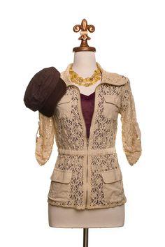Dressing Your Truth - Type 3 Khaki Lace Jacket.  I really like this.