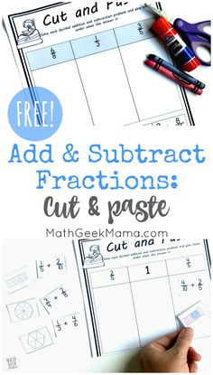 Do your kids need extra practice with fractions? This add subtract fractions activity is a great way to incorporate visual models with fraction operations. Plus, it helps kids practice simplifying fractions as well, as they have to determine the right p Fraction Games, Fraction Activities, Math Games, Math Resources, Math Activities, Maths, Simplifying Fractions, Adding Fractions, Dividing Fractions