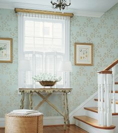 Thibaut Wallpaper   Jasper   Spring Lake Collection, But In Blue. Jean  Conner · Dining Room Wallpaper
