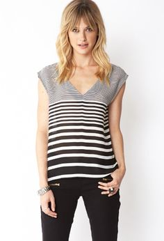 Standout Striped Chiffon Top | FOREVER21 Get your stripe on! #Love21#Stripes #MustHave
