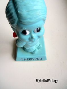 Vintage I Need You Rare Blue Russ Berrrie by WylieOwlVintage, $12.00