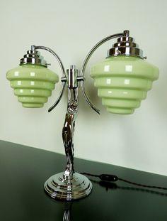 in Antiques, Art Deco - Décor (This isnt art nouveau, but I love it) Lampe Art Deco, Art Deco Decor, Art Deco Home, Art Deco Design, Love Vintage, Vintage Design, Art Nouveau, Art Deco Furniture, Furniture Movers