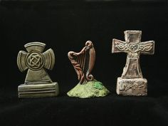 Each gravestone is individually cast in polyurethane resin and meticulously hand-painted to achieve the greatest degree of realism. Tombstone Set #27. Aspooktacular accent for any Lemax Spooky Town, Department 56 or Hawthorne Halloween Village cemetery graveyard display. | eBay!