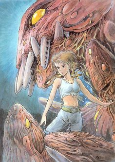 Nausicaä of the Valley of the Wind by Hayao Miyazaki Read More: Best Art Ever (This Week) - 02.20.2015 | http://comicsalliance.com/best-art-ever-this-week-02-20-2015/?trackback=tsmclip