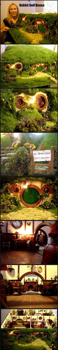 Funny pictures about Amazing Hobbit Dollhouse. Oh, and cool pics about Amazing Hobbit Dollhouse. Also, Amazing Hobbit Dollhouse. O Hobbit, Hobbit Hole, Vitrine Miniature, Diy Inspiration, Jrr Tolkien, Fairy Houses, Photos Of The Week, Middle Earth, Lord Of The Rings
