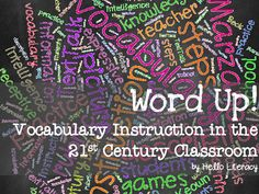 This is my presentation to accompany my (one day) Tier 2 and Tier 3 Hello Literacy workshop on vocabulary instruction. Perfect for Common Core, especially if y… Vocabulary Instruction, Vocabulary Activities, Reading Activities, Vocabulary Strategies, 21st Century Classroom, 21st Century Learning, Word Study, Word Work, Vocabulary Notebook