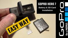 How to insert a SD card in GoPro Hero 7 Black, Hero White and Silver Hero 7 Versions. Gopro Hero, Sd Card, Usb Flash Drive, Cards, Maps, Usb Drive