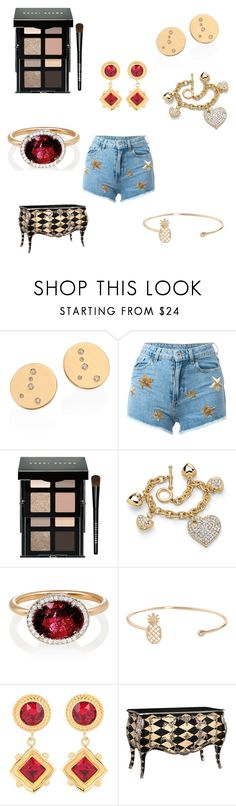 """With gold 419"" by audjvoss ❤ liked on Polyvore featuring Chiara Ferragni, Bobbi Brown Cosmetics, Palm Beach Jewelry, Irene Neuwirth, Humble Chic, Dolce&Gabbana and Frontgate"