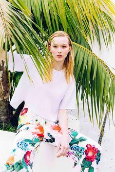 Sarah Jane Knapp Cactus Floral Tee and Linen Tee via Temper Collective