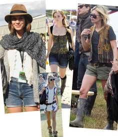 Festival fashion is about mixing clothes, styles, accessories