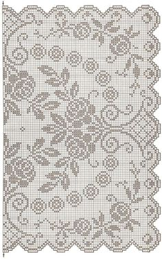 This Pin was discovered by Rut Annie's Crochet, Fillet Crochet, Thread Crochet, Crochet Doilies, Crochet Stitches, Cross Stitch Cushion, Cross Stitch Rose, Cross Stitch Embroidery, Crochet Patterns Filet